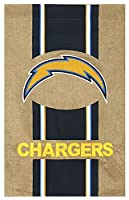 "NFL San Diego Chargers黄麻布家フラグ、29"" x 43"" /ミディアム、マルチカラー"