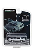 "1979 Pontiac Firebird Trans Am Silver ""10th Anniversary Edition"" Anniversary Collection Series 6 1/64 Diecast Model Car by Greenlight 27940 D"