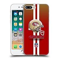 オフィシャル NFL ヘルメット サンフランシスコ・フォーティナインヤーズ ロゴ iPhone 7 Plus/iPhone 8 Plus 専用ソフトジェルケース