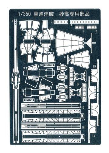 1/350 アイアンクラッド ディテールアップパーツ 重巡洋艦 妙高 専用エッチングパーツ
