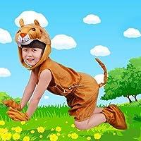 子供コスチュームダンスステージ着ぐるみ動物獅子帽子+シャツ+半ズボン+手袋+靴