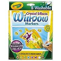 Washable Window FXマーカー、円錐形、Astd Crystalized色、8/セット、として販売8各