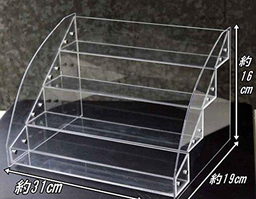 [SSKA.C]コレクション ケース 収納 ディスプレイ 展示 小物 フィギア 化粧品 ラック 棚 雛壇 コスメ 陳列棚 卓上 透明 (4段)