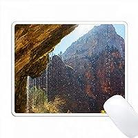 アメリカ、ユタ州、シオン国立公園、泣いている岩。 PC Mouse Pad パソコン マウスパッド