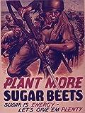 World War IIポスター–Plant More Sugarビーツ。砂糖はエネルギー。Let 's Give ' Em Plenty。–51518011