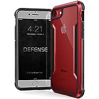 X-Doria iPhone 8 / 7 ケース DEFENSE SHIELD シリーズ 米軍MIL規格取得 MIL-STD-810G 衝撃吸収 スリム ハイブリッド アルミニウム × TPU × ポリカーボネイト ケース 【 レッド 】