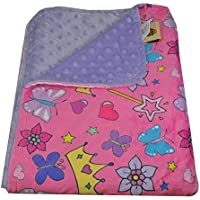 27 1/2 x 39 Ultra Soft Minky Polyester Cuddly Baby Toddler Blanket for Bed, Crib, Car or Stroller (Princess Tiara Pink-Lavender) by Silli Me