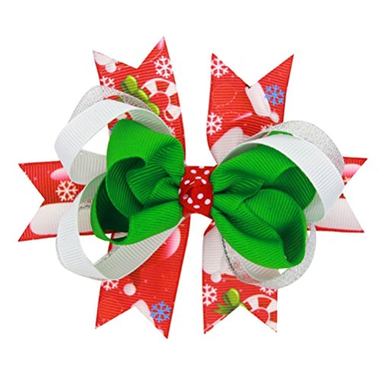 Zhhlaixing ベビー小物 Kids Girls Hair Clips Headdress Ribbon Bowknot Hairpin Hair Accessories for Christmas