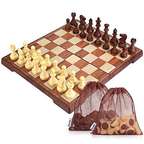 Peradix 国際チェス チェッカー付き 教育チェスセット...
