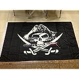 セレブレーションのための送料無料2個/ロット3フィートX 5フィートのハンギングフラグ海賊旗のパーティーの装飾ハロウィーンビッグフラッグ