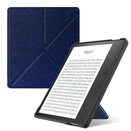 ATiC Kindle Oasis (Newモデル) 2017用 折り紙カバー スタンド式 軽量保護ケース (オートスリープ機能付き) INDIGO
