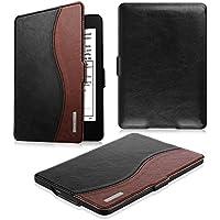 Fintie Kindle Paperwhite ケース 超薄 軽量 保護カバー オートスリープ機能付き (2016 NEW-Kindle Paperwhiteマンガモデル と 2012, 2013, 2015バージョン適応)(ブラック/ ブラウン)