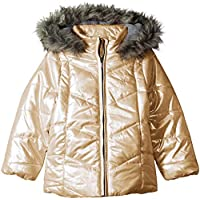 Calvin Klein Girls Girls' Metallic Puffer Jacket Jacket - Metallic