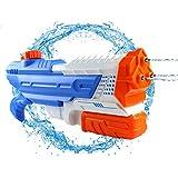AIZR 水鉄砲ウォーターガン超強力飛距離大容量高性能水鉄砲夏の定番プール水遊びかっこいいプール水遊び贈り物子ども大人用(ブルーレッドホワイト)