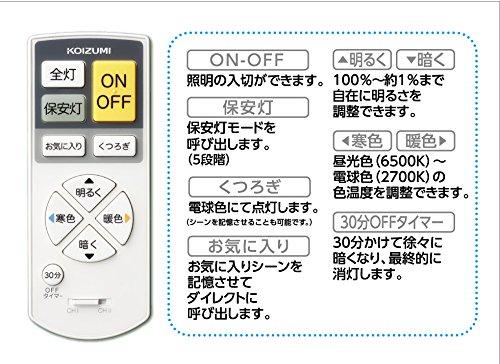 KOIZUMI(コイズミ) LED シーリングライト 【調光調色 省エネ ~8畳用】 BH15723CK