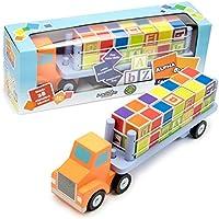 Deluxe Wooden Alphabet Truckブロックセット – 29 Piece Set 。