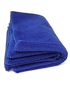 [TARO WORKS] 洗車タオル マイクロファイバー 洗車ふき取り 磨き上げ クロス 中判 2枚セット (40cmx60cm) ブルー