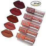 Pudaier 5colors Lip Gloss Matte Non-stick Cup Velvet Liquid Lipstick Set