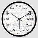 時計ミュート壁掛け時計人格教室の時計現代のミニマリストぶら下げテーブル数学機能時計 クロック (Color : A, Size : 35cm)