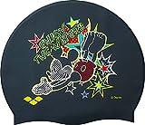 arena(アリーナ) スイムキャップ 水泳用 シリコン キャップ ディズニー ミックーマウス ブラック DIS-6360