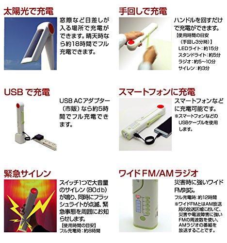 コロナ電業 マルチライティングラジオ (手回し充電・ソーラー充電・USB充電) TR-SD1