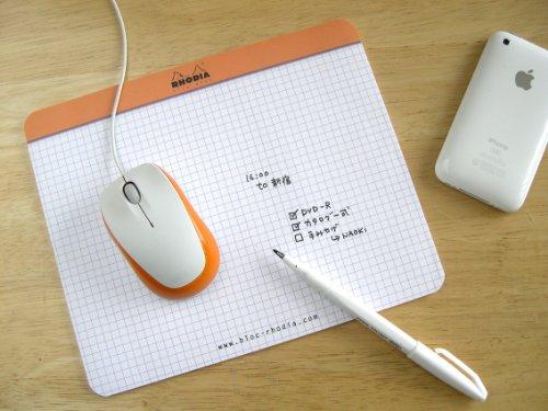 クリックブロック マウスパッド 19×23 オレンジ cf194100