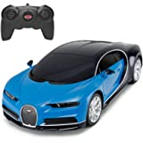 RASTAR Bugatti Veyron Chiron RC Car 1:24 Scale Remote Control Toy Car, Bugatti Chiron R/C Model Vehicle for Kids - Blue