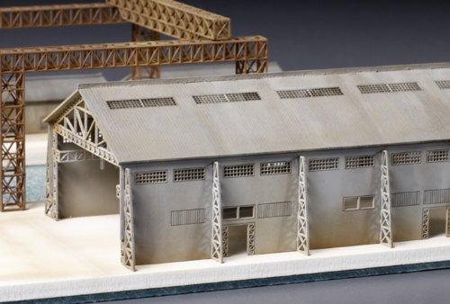 静岡模型教材協同組合 1/ 700 ペーパークラフト製 工場 大 ウォーターライン  31542 ペーパー製 組み立てキット B