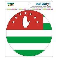 アブハジア国立国旗 - サークル MAG-格好いい'S(TM)カー/冷蔵庫マグネット