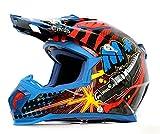 オフロードヘルメット315 ブルー L Masei(マセイ) MA-315-BL-L