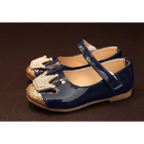 (チェリーレッド) CherryRed 子供靴 キッズ 女の子用 フォーマル靴 可愛い 王冠 発表会 結婚式 卒園式 卒業式 入学式 七五三 37 ブルー