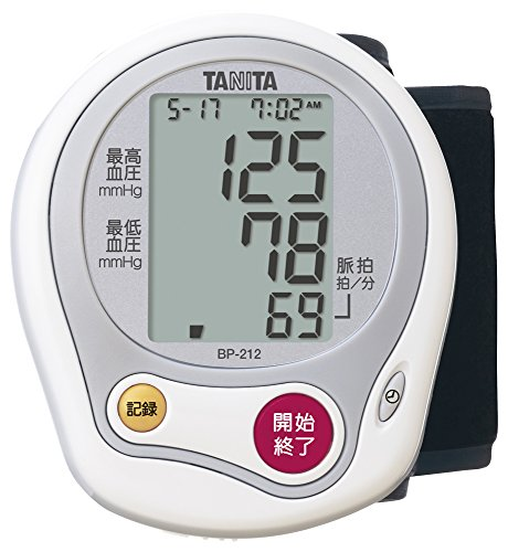 タニタ 手首式血圧計 ホワイト BP-212-WH 脈感覚の...