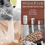HIGH FIVE アイコスケース ウォレット型 スター スタッズ ラウンドファスナータイプ 手帳型 レザーアイコスケース IQOSケース アイコス専用 全部収納 オールインワン 財布型 ホワイトホワイト