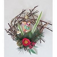 正月リース 迎春飾り アートフラワー 羽子板 0527