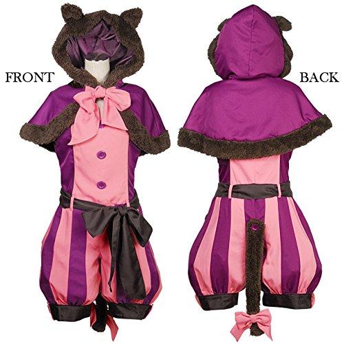 コスプレ衣装 チェシャ猫風 スカートワンピース&ケープセット