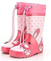 [チェリーレッド] 子供 ベビー 男の子 女の子 レインシューズ ブーツ 靴の上から履ける 滑らない 防水 ロングカバー 梅雨 雨の日 22.3cm ピンク