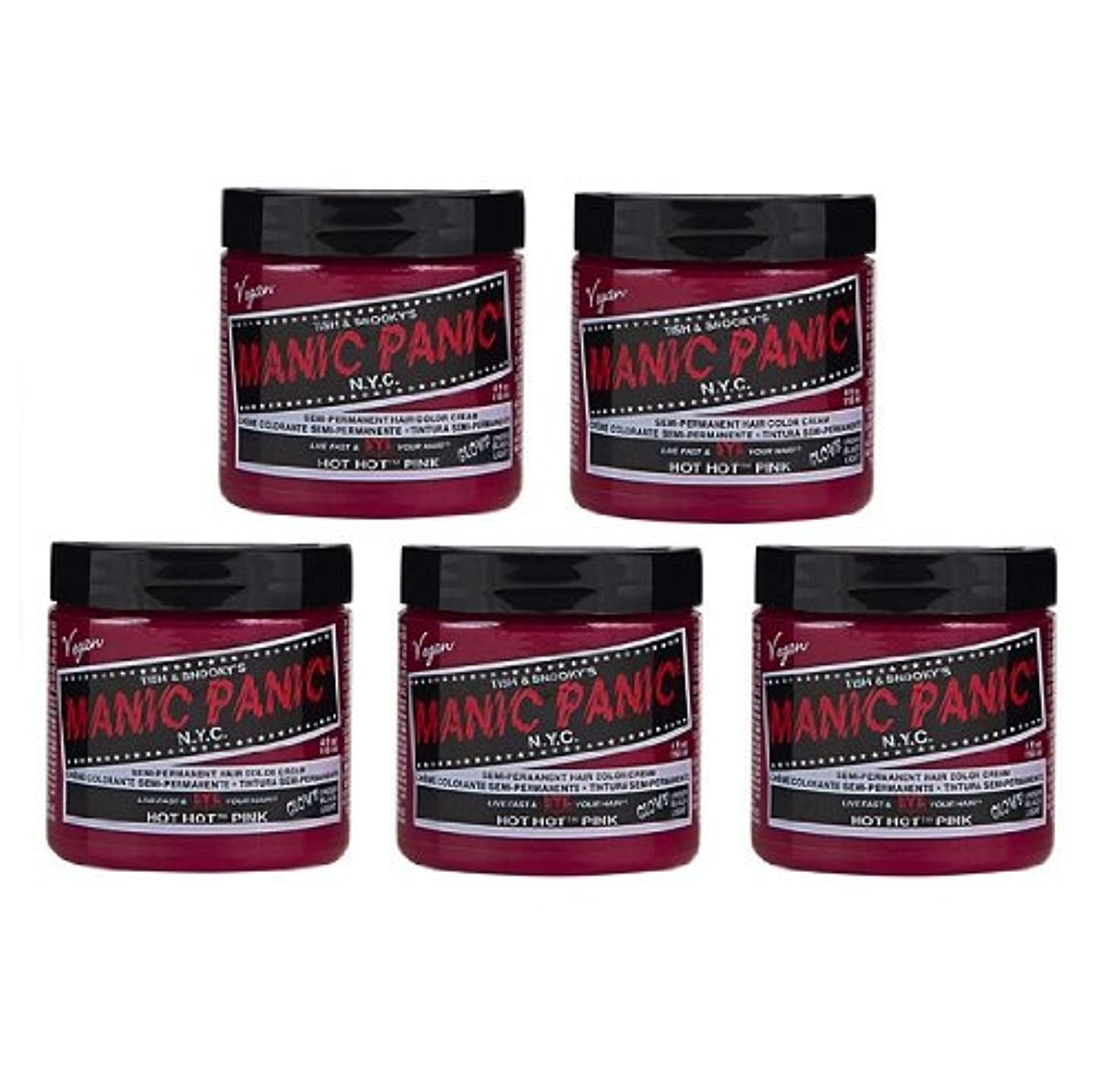 ドループ比率親指【5個セット】MANIC PANIC マニックパニック Hot Hot Pink ホットホットピンク 118ml