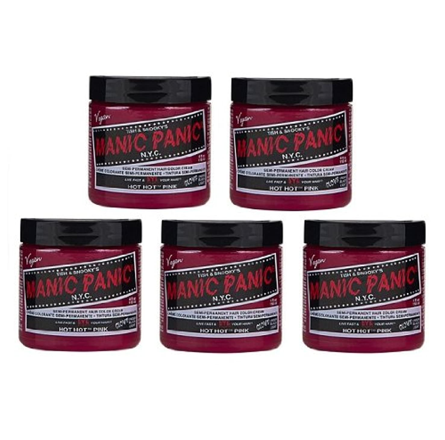 階下カンガルークラックポット【5個セット】MANIC PANIC マニックパニック Hot Hot Pink ホットホットピンク 118ml