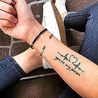 あなたは私の人です・一時的な入れ墨・タトゥーステッカー (2枚) - www.ohmytat.com