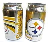 ピッツバーグスティーラーズ、NFL、クロム、ガラスタンブラー、ビールのように見えるが、その、ソリッド厚いガラスタンブラー、12オンス、2つパック。
