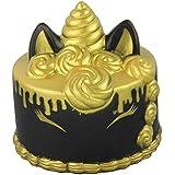ユニコーンケーキ立ち上がりの遅いジャンボソフトグチャグチャのおもちゃは、子供と大人のためのsquishy可愛いおもちゃのストレス解消のおもちゃ (黑)