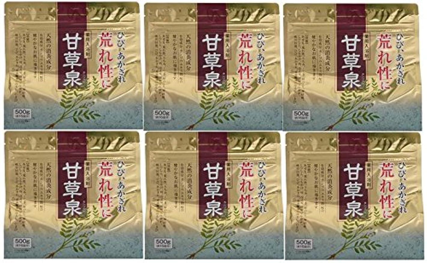 賞経済的ハンバーガー薬用入浴剤 甘草泉 500g×6個セット