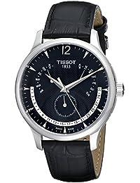 [ティソ] TISSOT 腕時計 トラディション パーペチュアルカレンダー クォーツ ブラック文字盤 レザー T0636371605700 メンズ 【正規輸入品】
