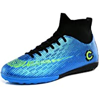 High-top Football Shoes Artificial Grass Men's Plus Size Training Sneakers,A,36