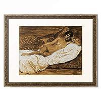 テオフィル・アレクサンドル・スタンラン Théophile Alexandre Steinlen 「Nude Outstretched.」 額装アート作品