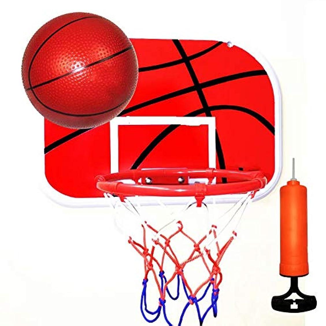 ましい熟練したバインドXiZiMi バスケットボールゴールフープグッズセット 屋内スポーツゲーム 屋内バスケットボールゲーム 子供用 ノンマーキングフックバスケットボールスタンド バスケットボールトレーニング練習用アクセサリー red 7.5*34*48cm