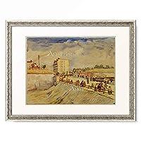 フィンセント・ファン・ゴッホ Vincent Willem van Gogh 「Gate in the Paris Ramparts」 額装アート作品