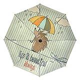 旅立の店 折り畳み傘 レディース 表面ブラックコロイド加工 ワンタッチ自動開閉 耐風撥水 UVカット 丈夫 グラスファイバー+アルミ合金傘骨 ハリネズミ柄 雨 8本骨 晴雨兼用 おしゃれ 収納ポーチ付き 親骨61cm 傘面108cm