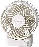リズム時計 卓上 USB ファン シルキー・ウィンドS 【 省エネ 】【 強風 】【 静音 】 白 RHYTHM 9ZF017RH03