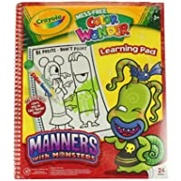 Crayola Mess Free色Wonder Learningパッド、Manners with Monsters